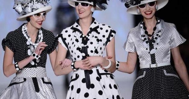 Летняя мода 2014 черно-белый горох