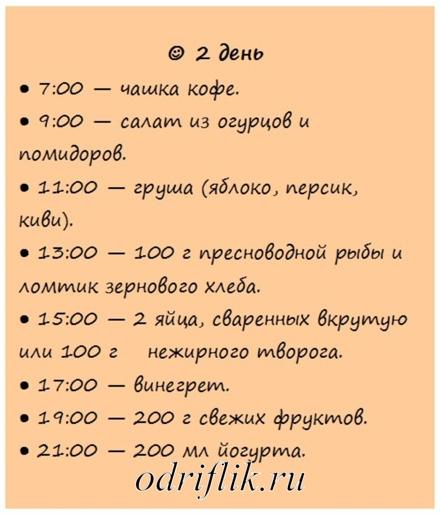 Диета меню на каждый день по часам фото