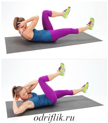 4 упражнения для плоского живота 3