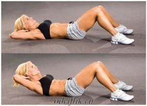 4 упражнения для плоского живота 1