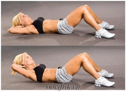 4 упражнения для плоского живота